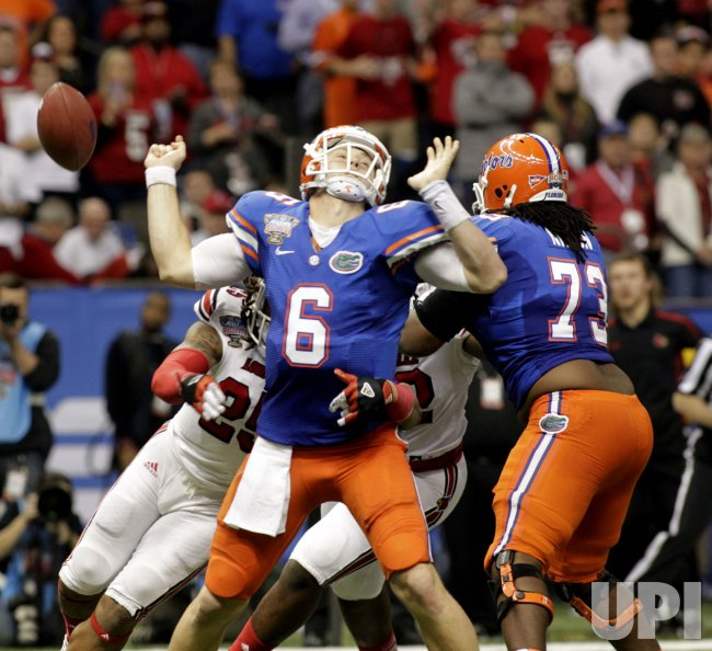 79th Annual Allstate Sugar Bowl featuring the Florida Gators and Louisville Cardinals at the Mercedes-Benz Superdome in New Orleans