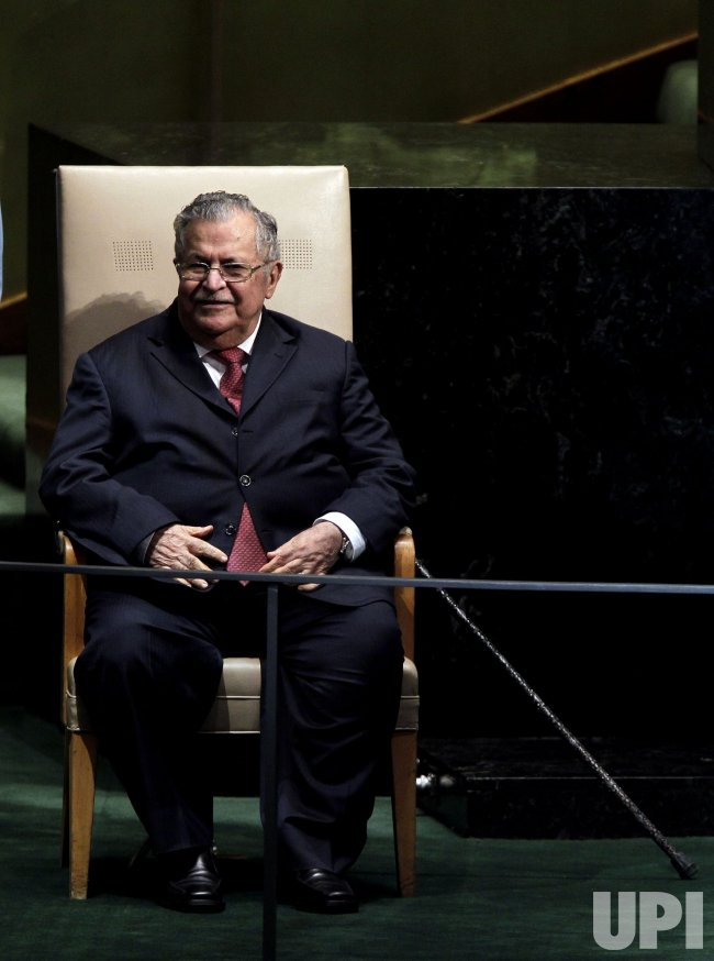 Jalal Talabani, President of the Republic of Iraq at the 65th United Nations General Assembly at the UN in New York
