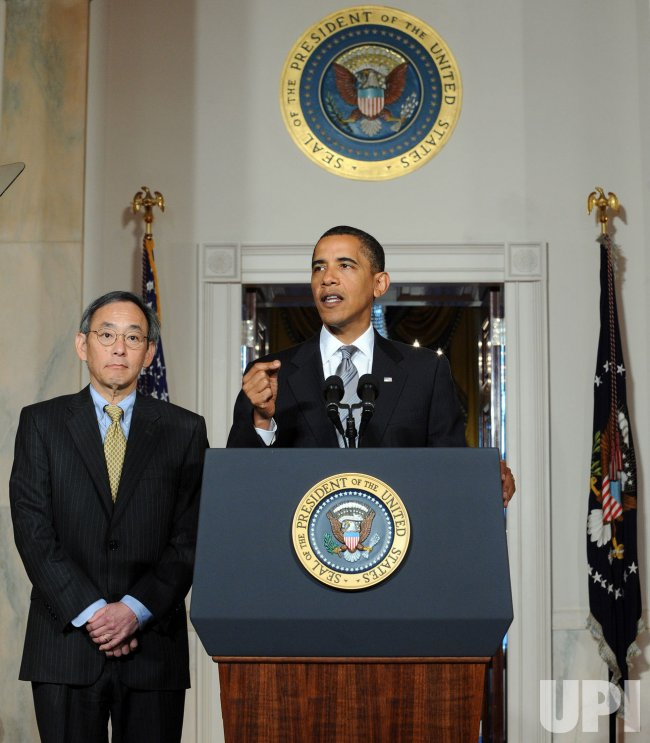 Obama discusses energy policy in Washington