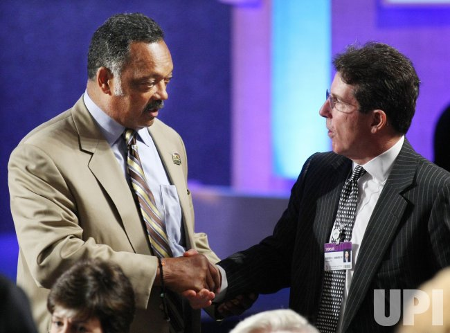 Jesse Jackson and Robert Diamond attend the sixth annual Clinton Global Initiative in New York