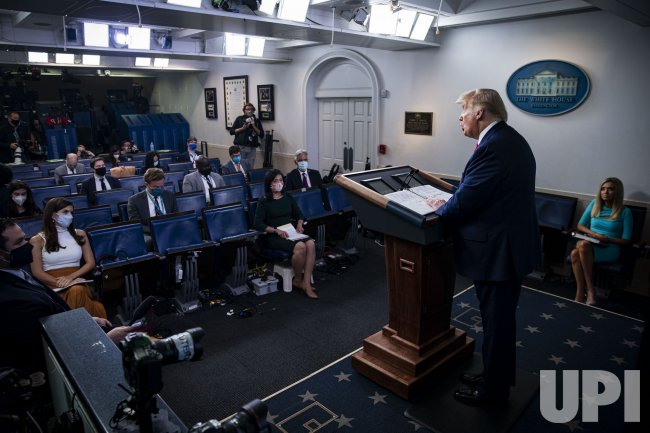 President Trump Holds Press Briefing in Washington
