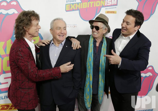 Rolling Stones arrive at Exhibitionism in NYC
