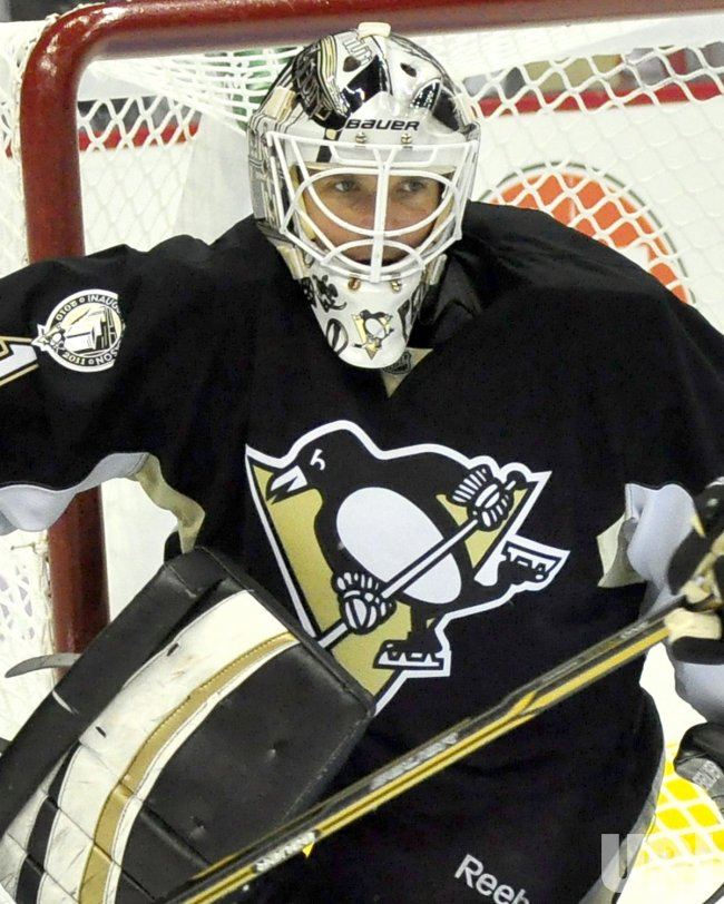 Penguins Brent Johnson Replaces Fleury in Lightning 8-2 Win in Pittsburgh