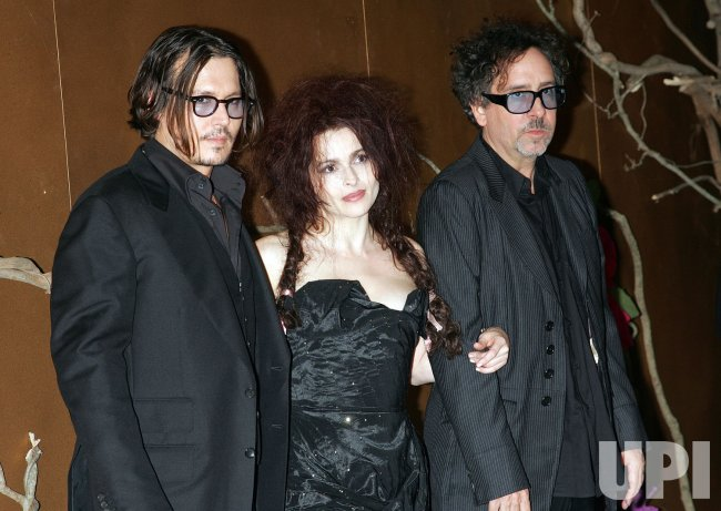Johnny Depp, Helena Bonham Carter and Tim Burton arrive for the Museum of Modern Art Film Benefit Tribute to Tim Burton in New York