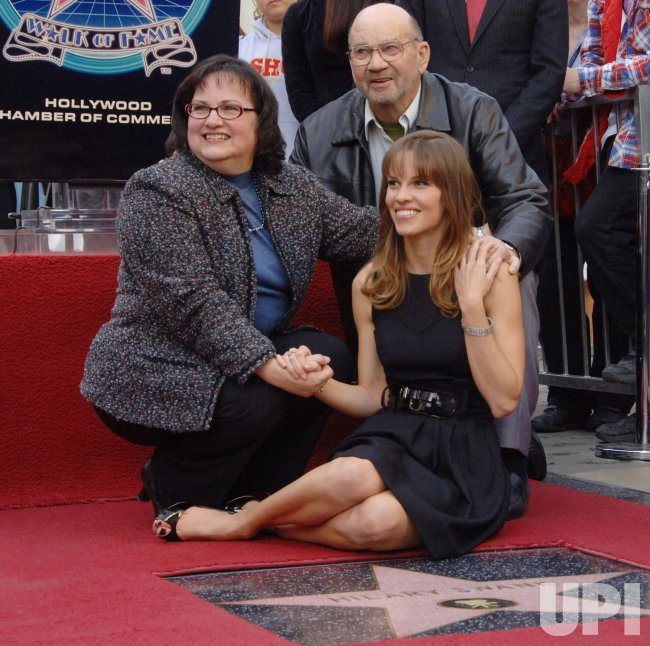 ACTRESS HILARY SWANK RECEIVES STAR ON HOLLYWOOD WALK OF FAME