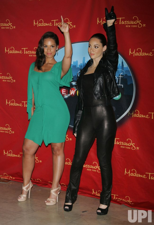 Alicia Keys unveils her new wax figure at Madame Tussauds in New York
