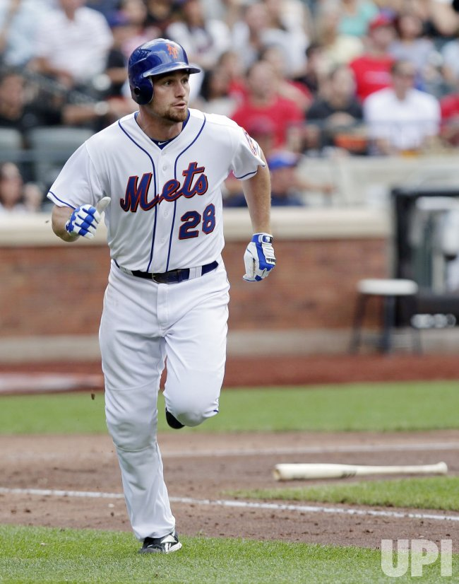 New York Mets Daniel Murphy hits a solo home run at Citi Field in New York
