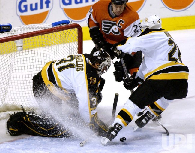 Boston Bruins at the Philadelphia Flyers NHL Ice Hockey