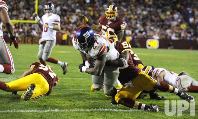NY Giants vs. Washington Redskins in Maryland