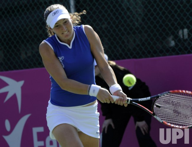 Israeli's Shahar Peer plays in the Fed Cup World Group in Israel