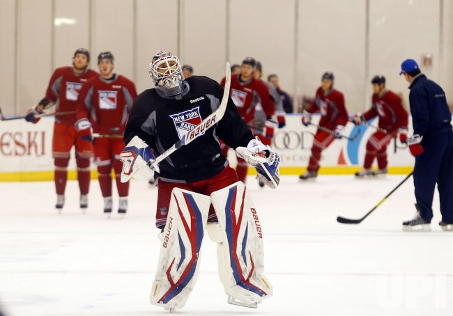 New York Rangers first day of practice