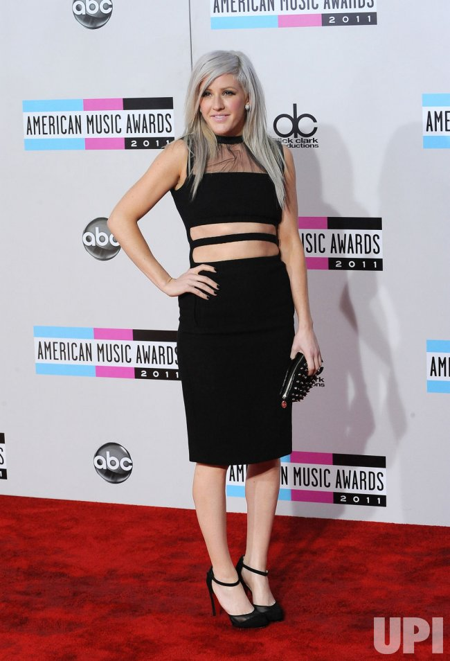 Singer Ellie Goulding arrives at the 39th American Music Awards in Los Angeles