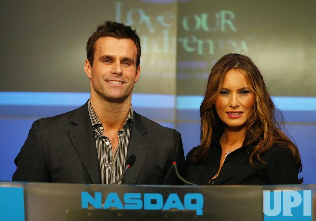 Cameron Mathison and Melania Trump Ring Closing Bell at NASDAQ in New York