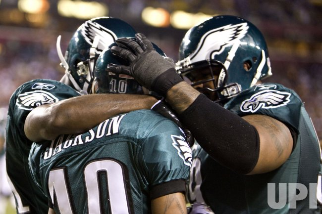 Philadelphia Eagles Jackson celebrates after touchdown.
