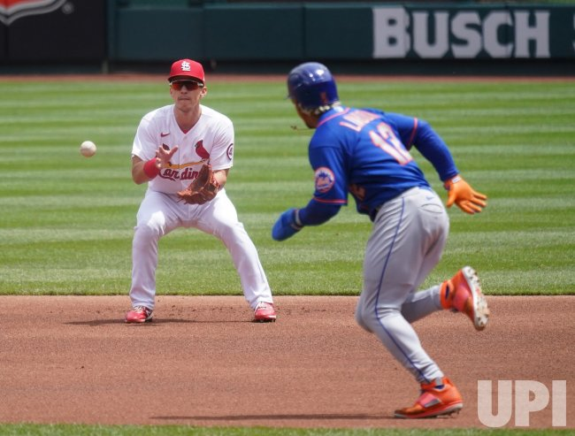 St. Louis Cardinals Tommy Edman Starts Double Play