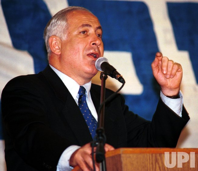 Israeli Prime Minister Netanyahu on the campaign trail