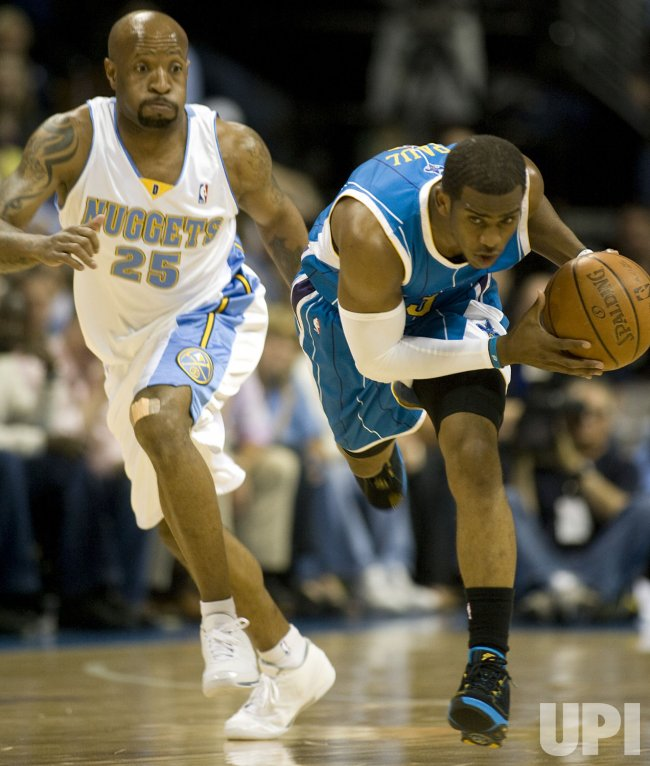 New Orleans Hornets vs Denver Nuggets In Denver
