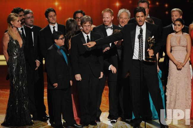 """""""Modern Family"""" garners outstanding comedy series award at the 63rd Primetime Emmy Awards in Los Angeles"""