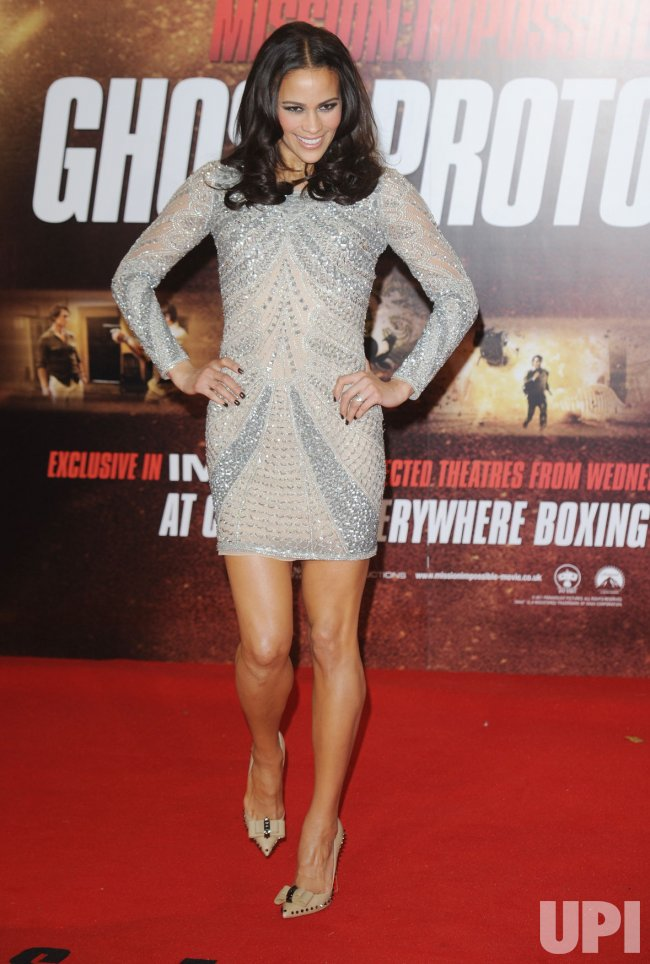 "Paula Patton attends the premiere of ""Mission: Impossible Ghost Protocol"" in London"