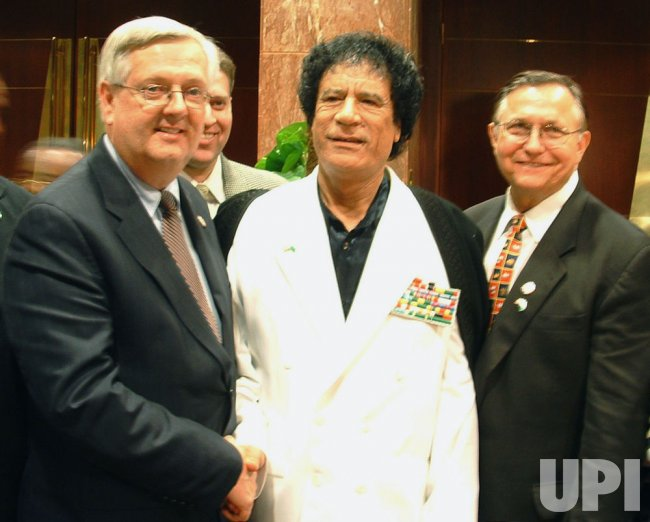 LIBYAN LEADER GADHAFI MEETS WITH U.S. CONGRESSMEN