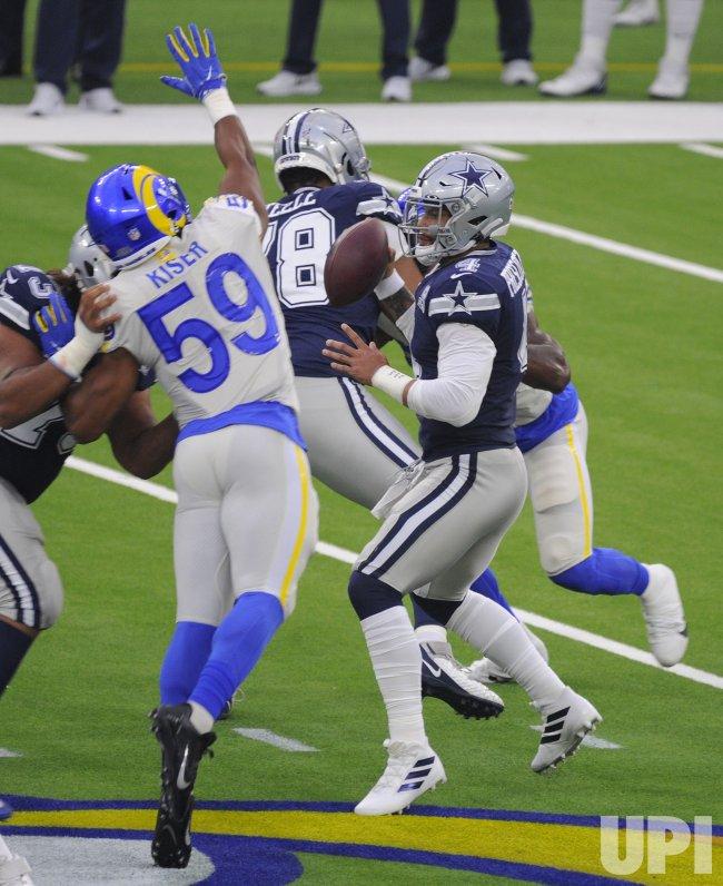 Rams' Micah Kiser Puts Pressure on Cowboys Quarterback Dan Prescott