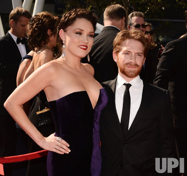 Seth Green and Clare Grant attend the 2012 Creative Arts Emmy Awards in Los Angeles