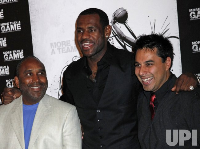 """LeBron James arrives at a screening of """"More Than a Game"""""""