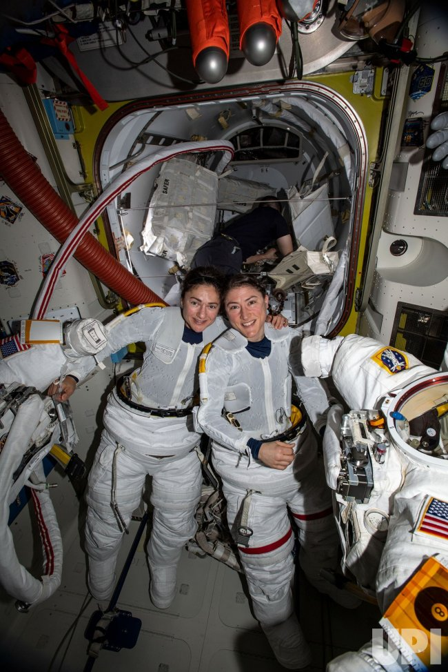 NASA Astronauts Christina Koch and Jessica Meir Perform ...