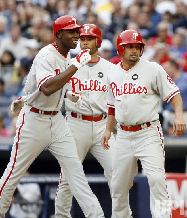 Philadelphia Phillies at New York Yankees at Yankee Stadium in New York