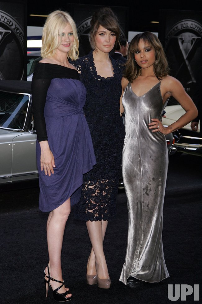 Janauary Jones Rose Byrne And Zoe Kravitz Arrive For The X Men First Class Premiere In New York Upi Com