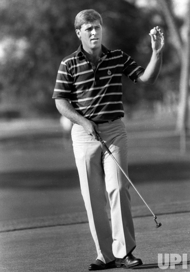 Golfer Hal Sutton in action in Palm Springs, CA