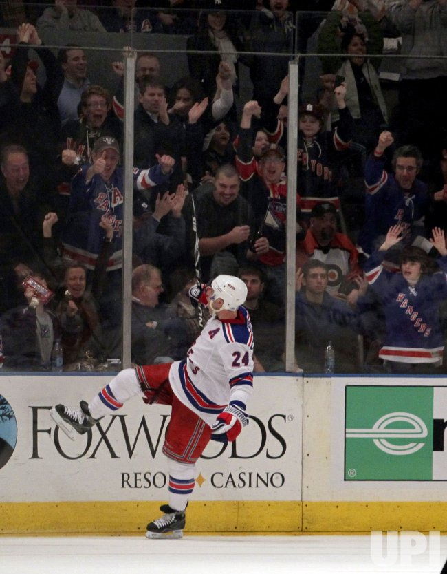New York Rangers Ryan Callahan reacts at Madison Square Garden in New York
