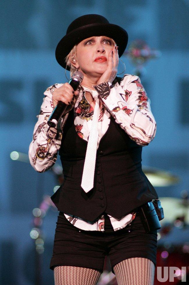 Cyndi Lauper perform in concert in Sunrise, Florida