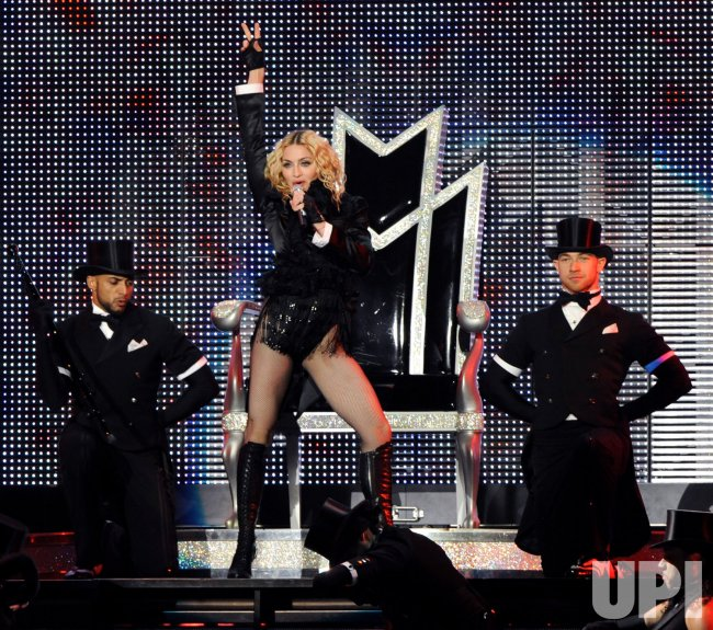 Madonna performs with Britney Spears in Los Angeles