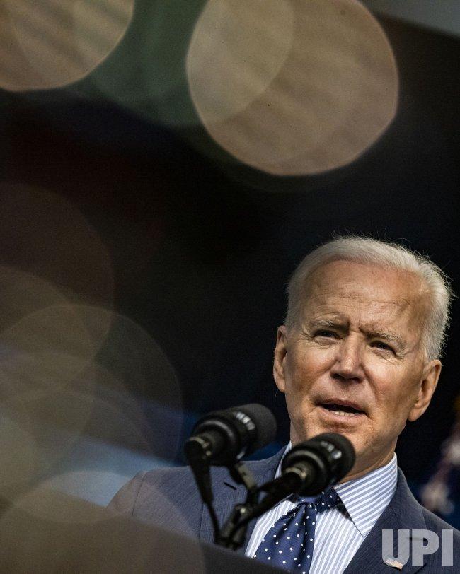 President Joe Biden Speaks in the Eisenhower Executive Office