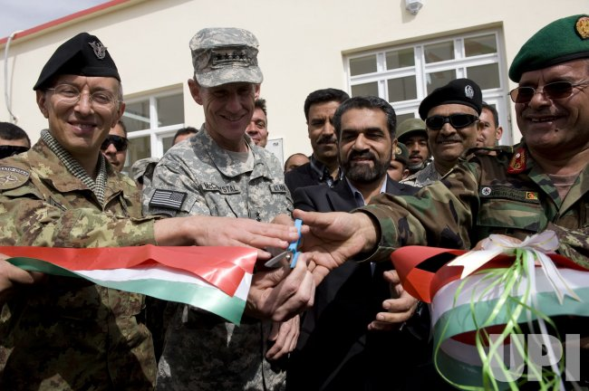General McChrystal Inspects Afghan National Army Troops