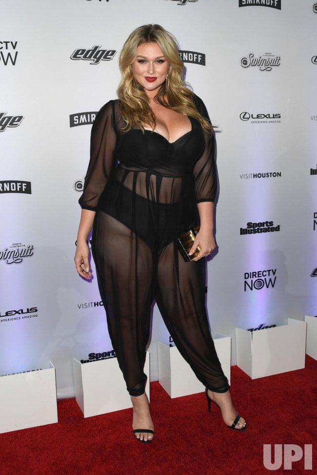 Hunter McGrady at the Sports Illustrated Swimsuit 2017 launch in New