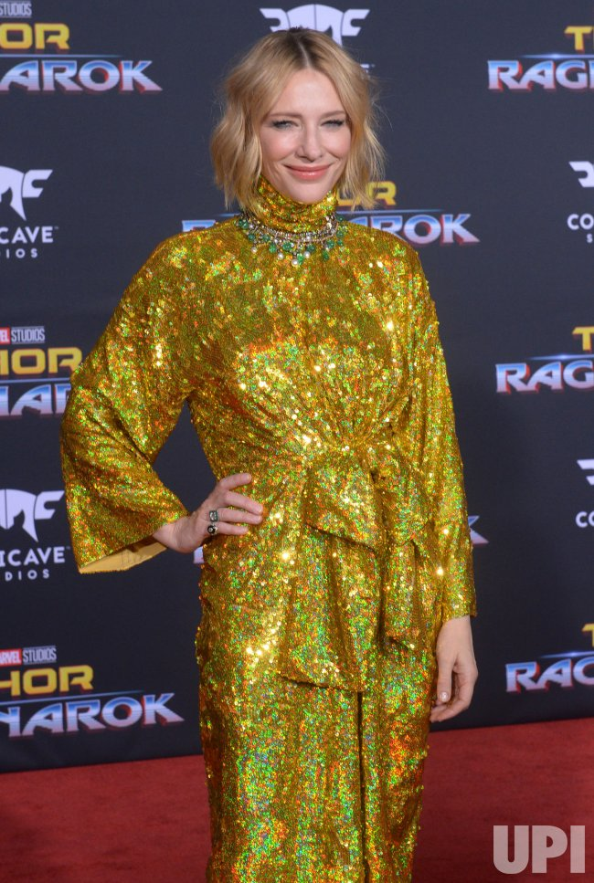 "Cate Blanchett attends the ""Thor: Ragnarok"" premiere in Los Angeles"