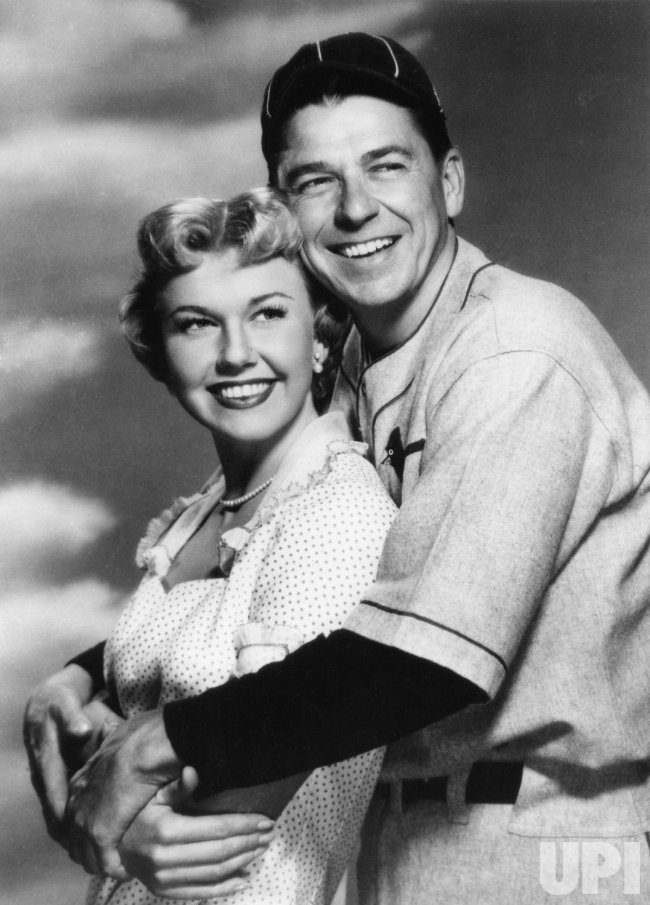 "RONALD REAGAN AND DORIS DAY IN ""THE WINNING TEAM"""