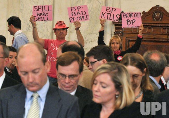 BP President Lamar McKay testifies on the BP oil rig accident in Washington