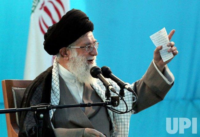 Iranian Supreme Leader Ayatollah Ali Khamenei attends ceremony in Tehran