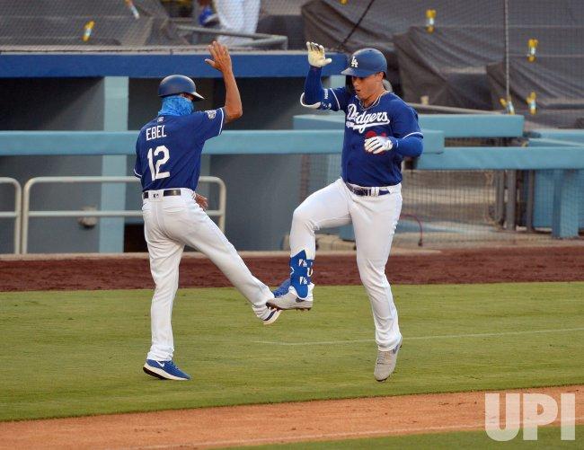 Los Angeles Dodgers Hold Summer Camp at Dodger Stadium ...