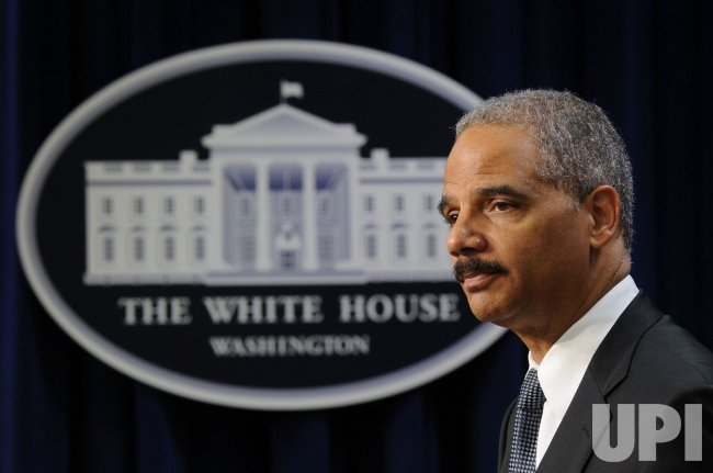 Attorney General Eric Holder speaks on work place equality in Washington