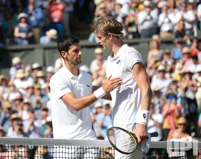 Novak Djokovic versus Kevin Anderson at Wimbledon Men's Final.