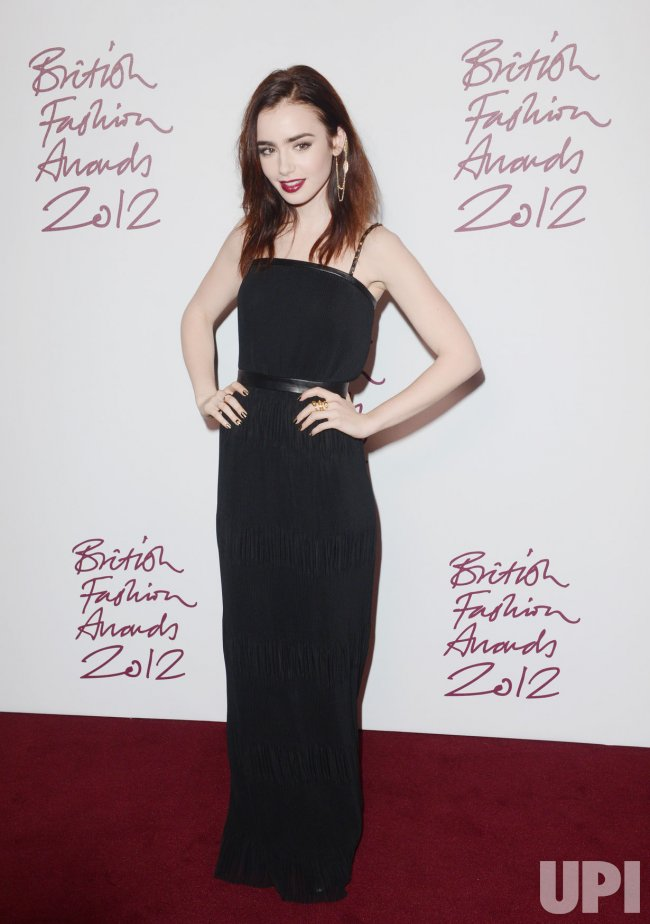 """Lily Collins attends """"British Fashion Awards"""" in London"""