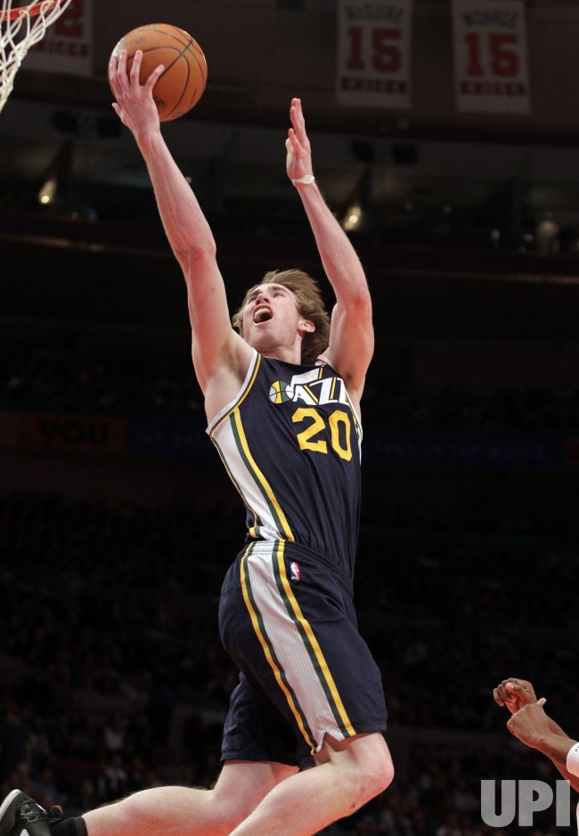 Utah Jazz Gordon Hayward at Madison Square Garden in New York