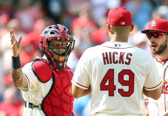 St  Louis Cardinals pitcher Jordan Hicks leaves game with