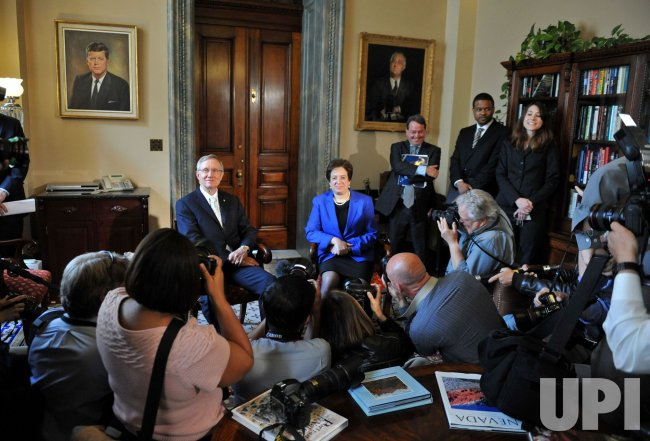 Supeme Court nominee Solicitor General Elena Kagan meets with Sen. Harry Reid (D-NV) in Washington