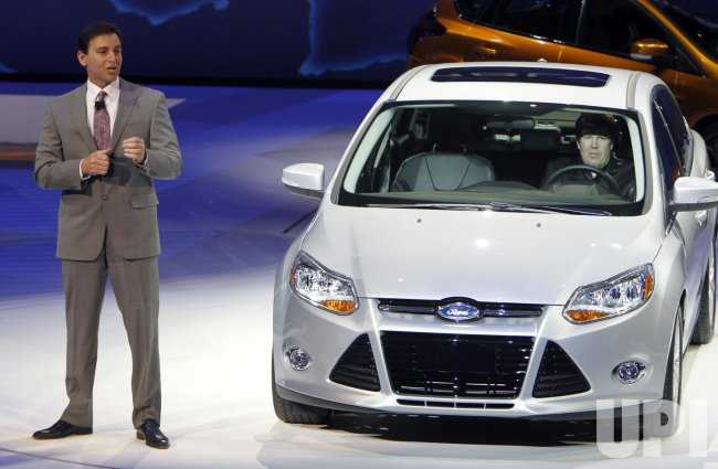 Ford America President Fields introduces new Focus at the 2011 NAIAS in Detroit, MI.