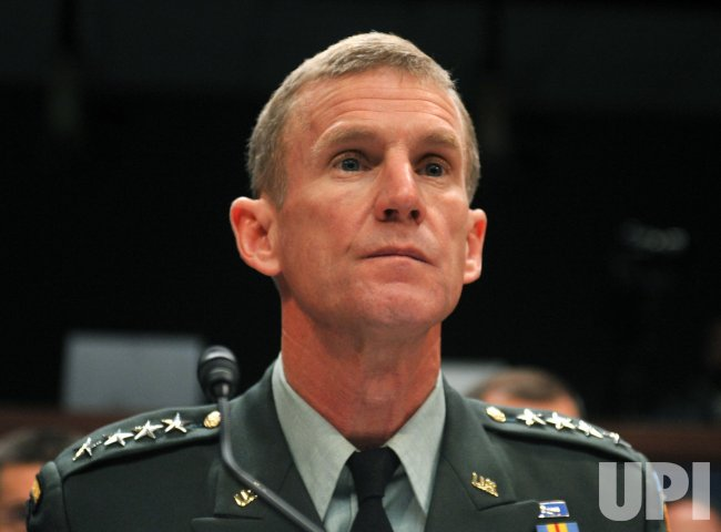 Army Gen. Stanley McChrystal testifies in Washington